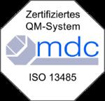 mdc Zertifikat 13485